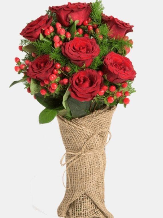 """Букет """"Романс на червената роза"""""""