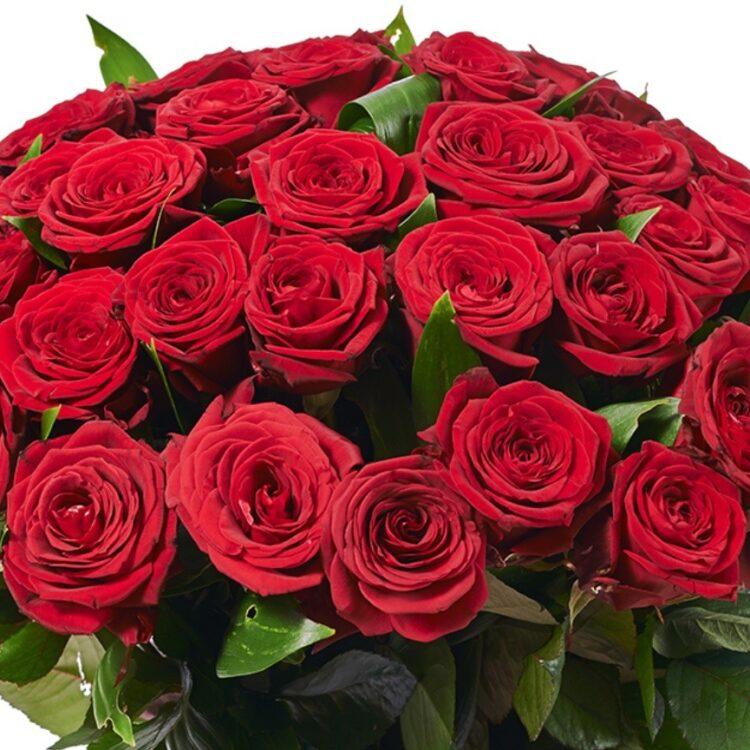 Букет с 51 червени рози