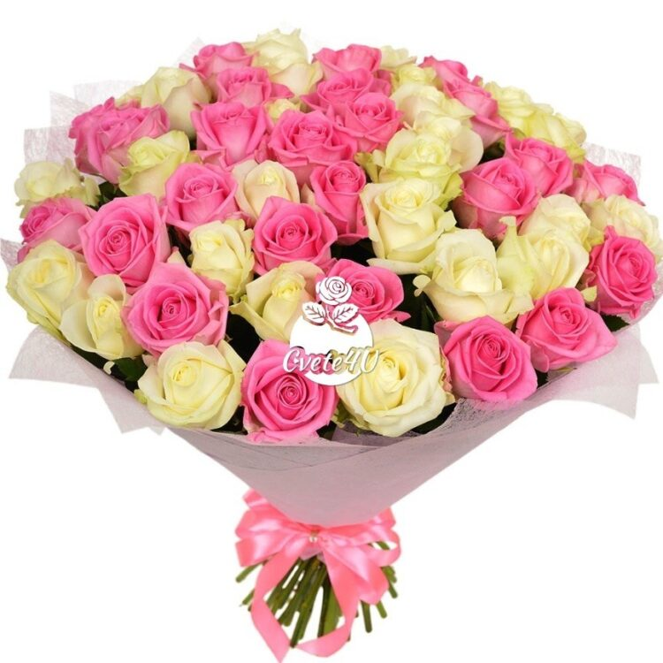 Be Happy e необичайно нежен и трогателен букет с който ще очаровате своята любима. Букет от розови и бели рози е най – великолепното признание в любов.