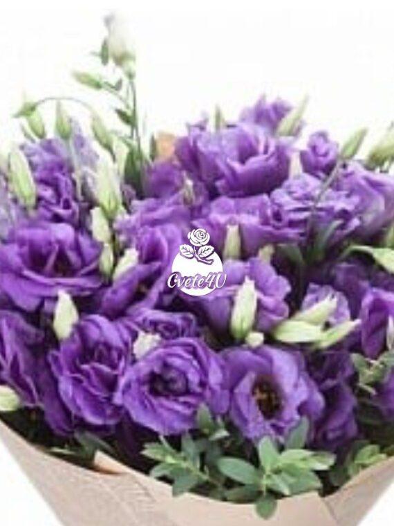 Букет Лиляна – Нежна лилава еустома.