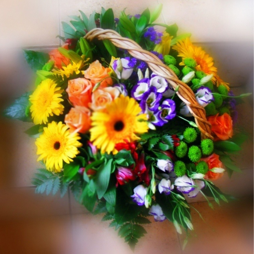 Разноцветни летни букети