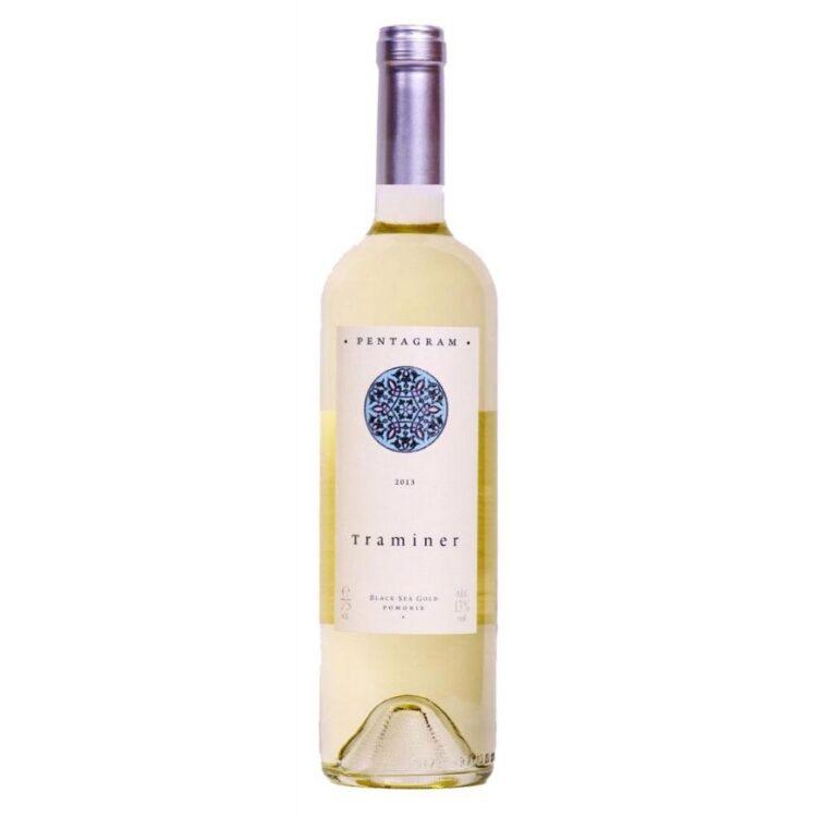 Вино Поморие Пентаграм 750мл Траминер