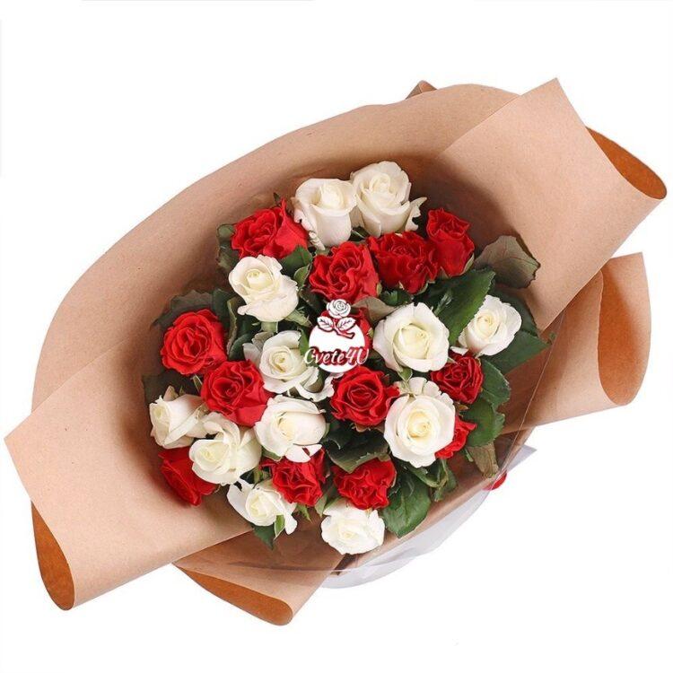 Букет с 25 рози