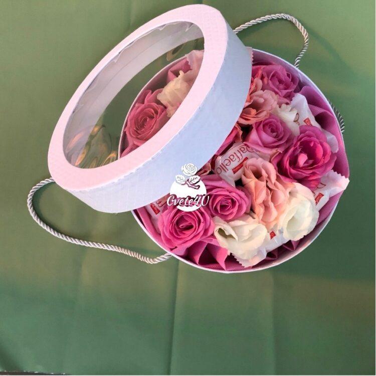 Кутия с цветя & Raffaelo Арабела